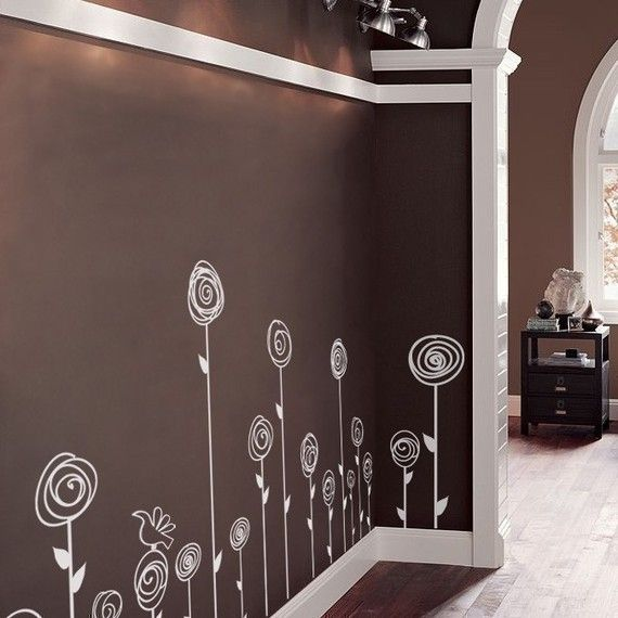 Love these walls - would be a very cute simple idea for a little girl's room or nursery