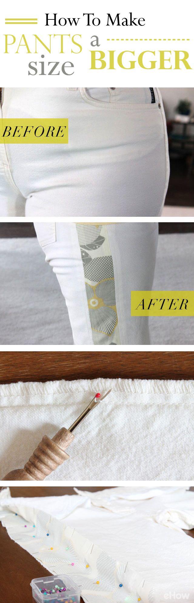How to Make Pants a Bigger Size | Falda | Pinterest | Costura, Ropa ...