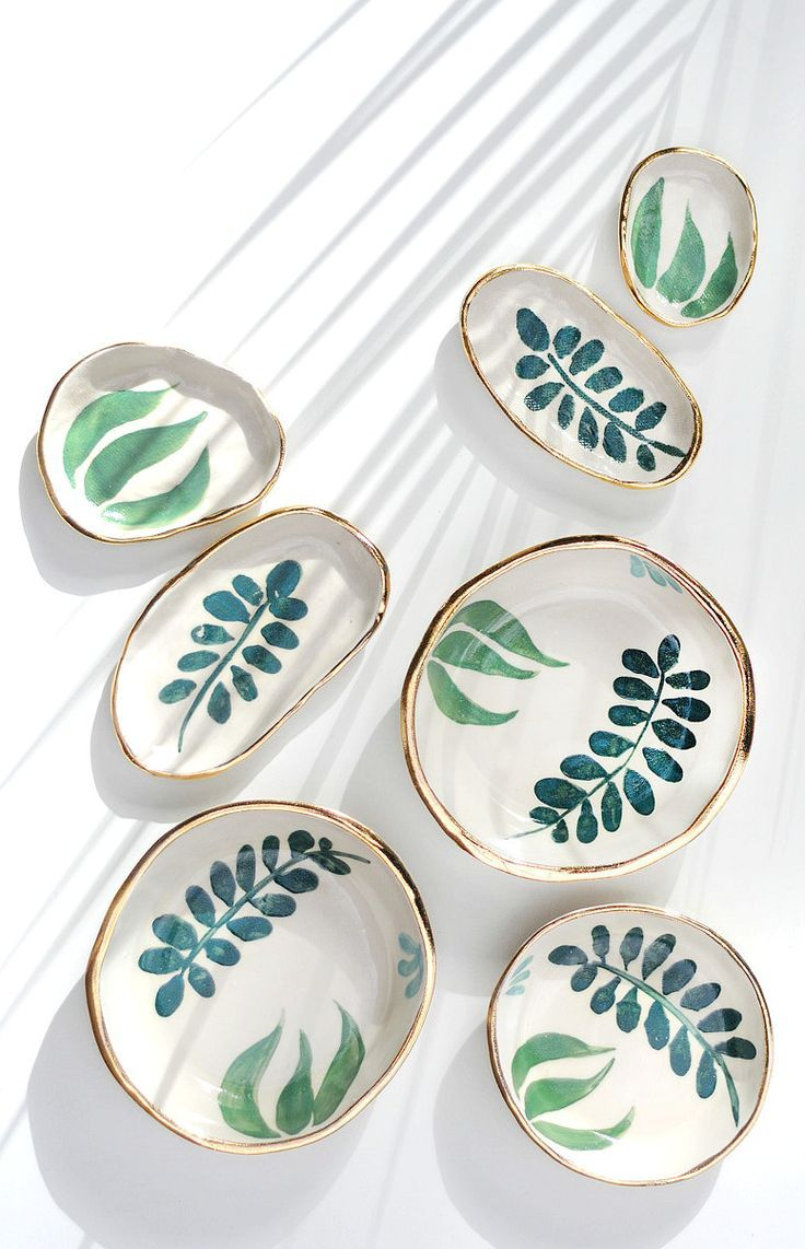 Hand Painted Gold Rimmed Stoneware Dishes Etsy With Images Handmade Ceramics Pottery Ceramics