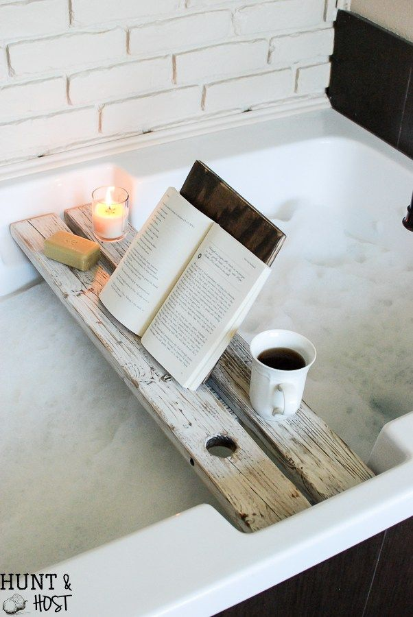 Bath Tray with Book Rest | Bath caddy, Hot tubs and Trays