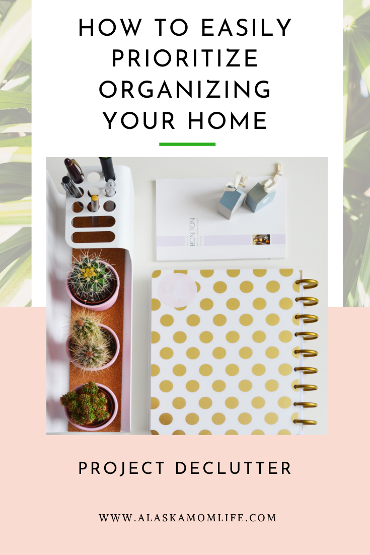 Tips on how to prioritize and decluttering your home, closet and life.Learn how to simplify your life by declutters and how to organize your home to keep it that way. #garagesale #organize #clearspace #morespace