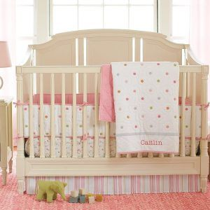 Mesmerizing Pink And Brown Polka Dot Crib Bedding Great Decorating Intended For Size 3177 X 2400 Nursery When It Comes To Purchasi
