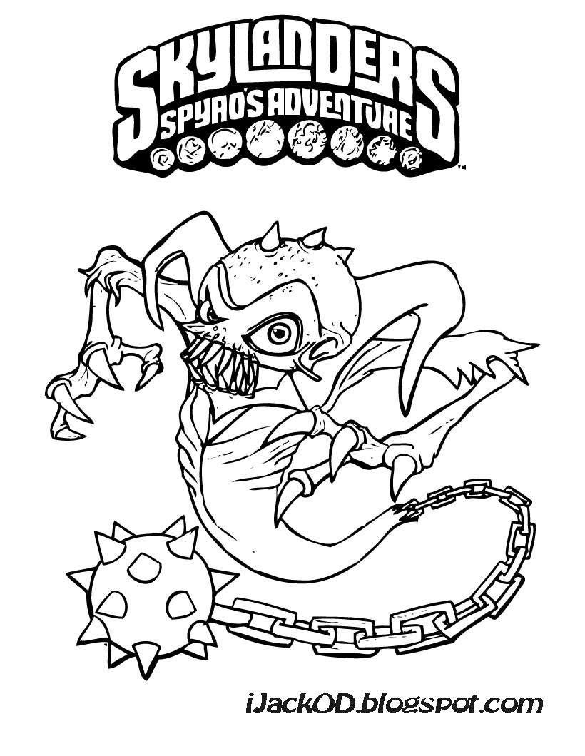 Skylanders Coloring Page :: Ghost Roaster | {parties. kids ...