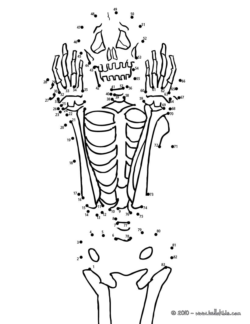 Halloween Dot To Dot Skeleton Dot To Dot Game Dots Game Coloring Pages Cool Coloring Pages [ 1061 x 821 Pixel ]