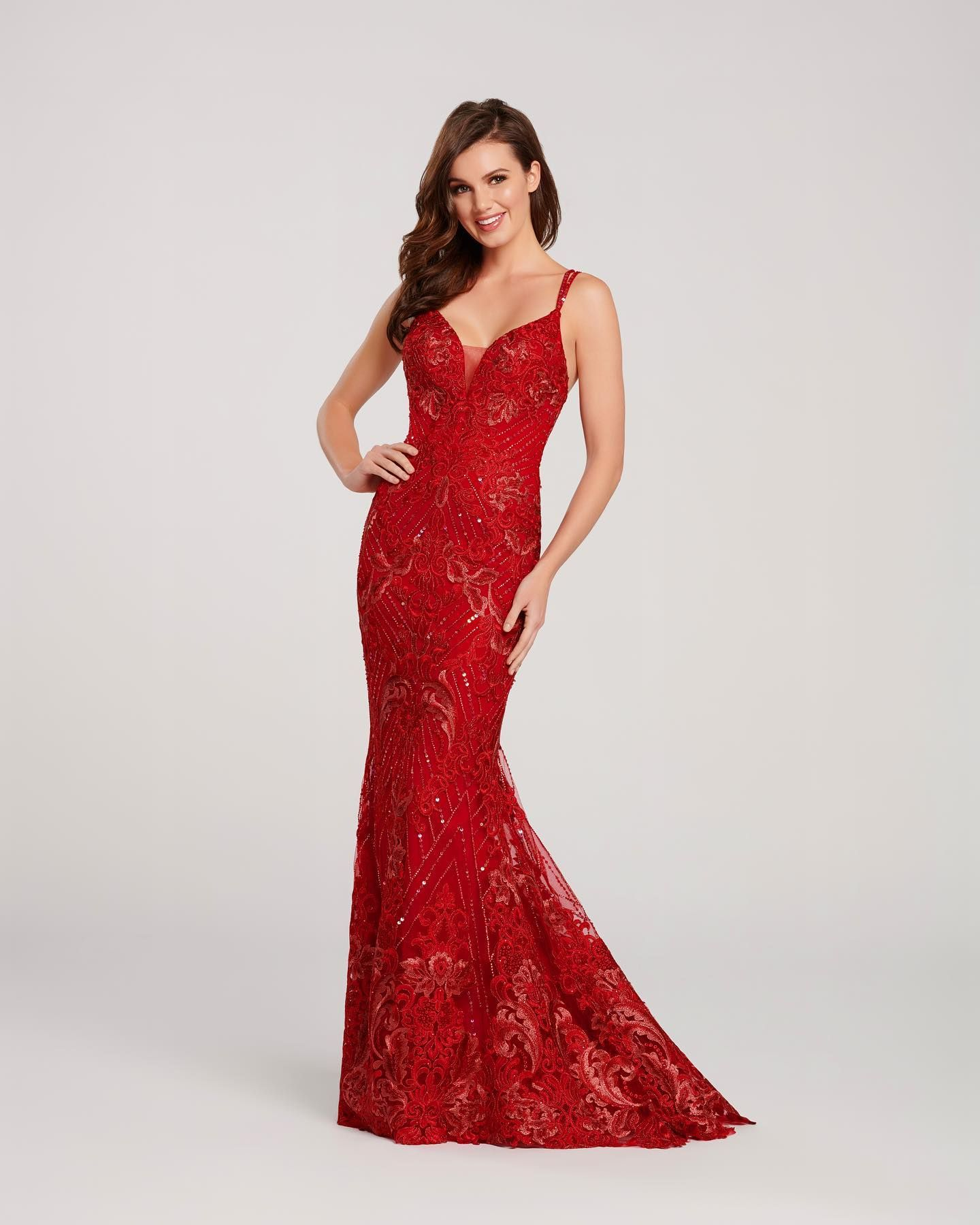 Stunning Red Gown Evening Dresses Prom Prom Dresses Prom Designs [ 1799 x 1440 Pixel ]