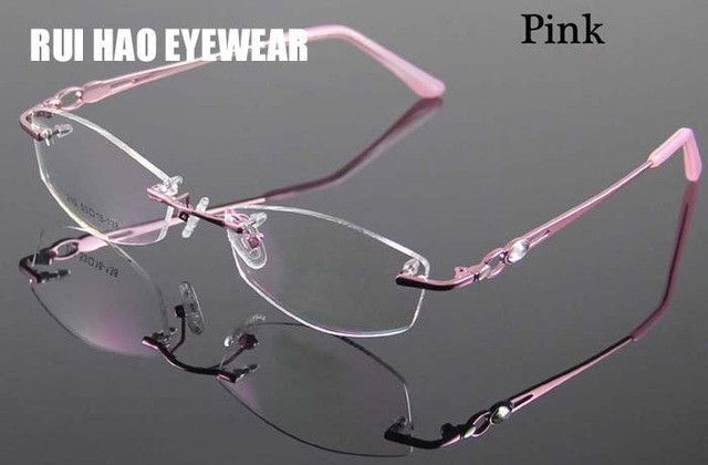 Rimless Women\'s Glasses Frame Designer Spectacles Women Eyeglasses ...
