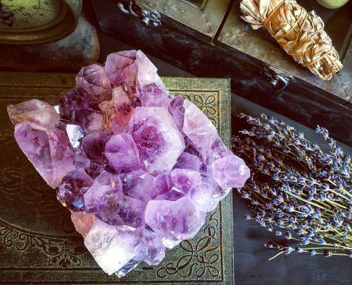 "foxlarkalchemy: "" Amethyst lavender & sage….  www.foxlark.com """