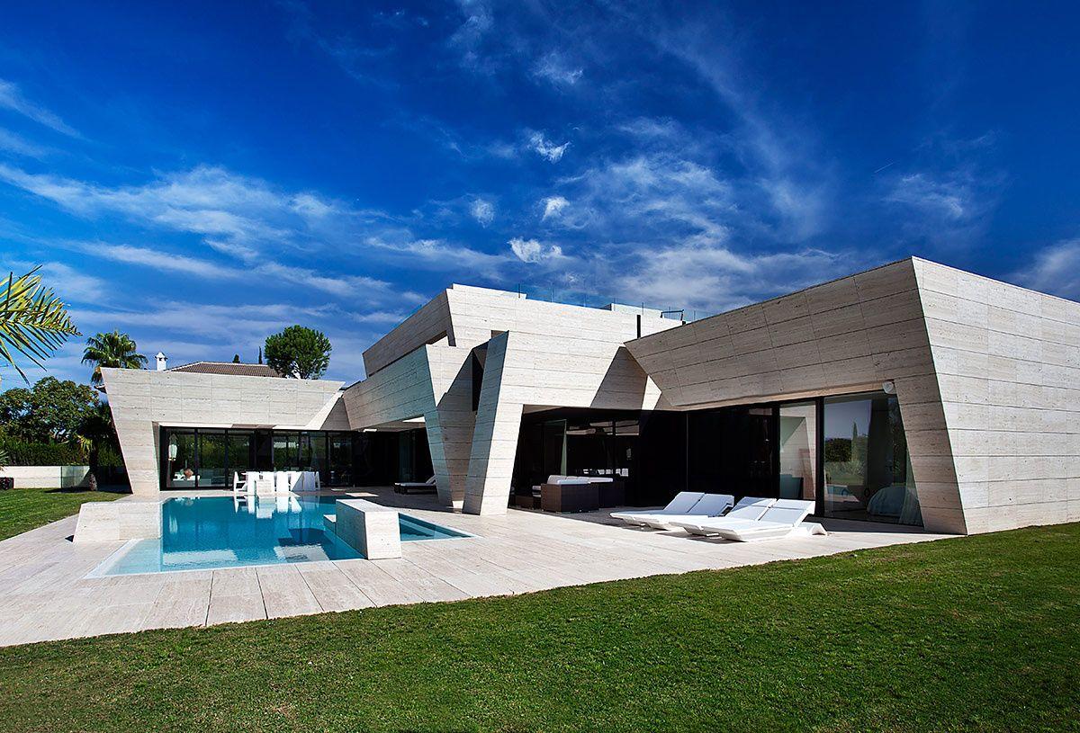 Casa En Sevilla Espana Arquitectura Fachadas De Casas Modernas Arquitectura Casas
