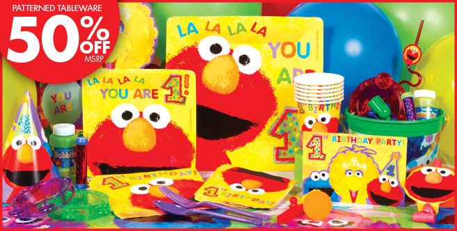 1st Birthday Supplies At Party City Sesame Street Theme