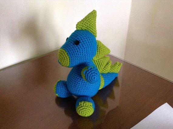Crochet amigurumi dinosaur por BissohongFam en Etsy