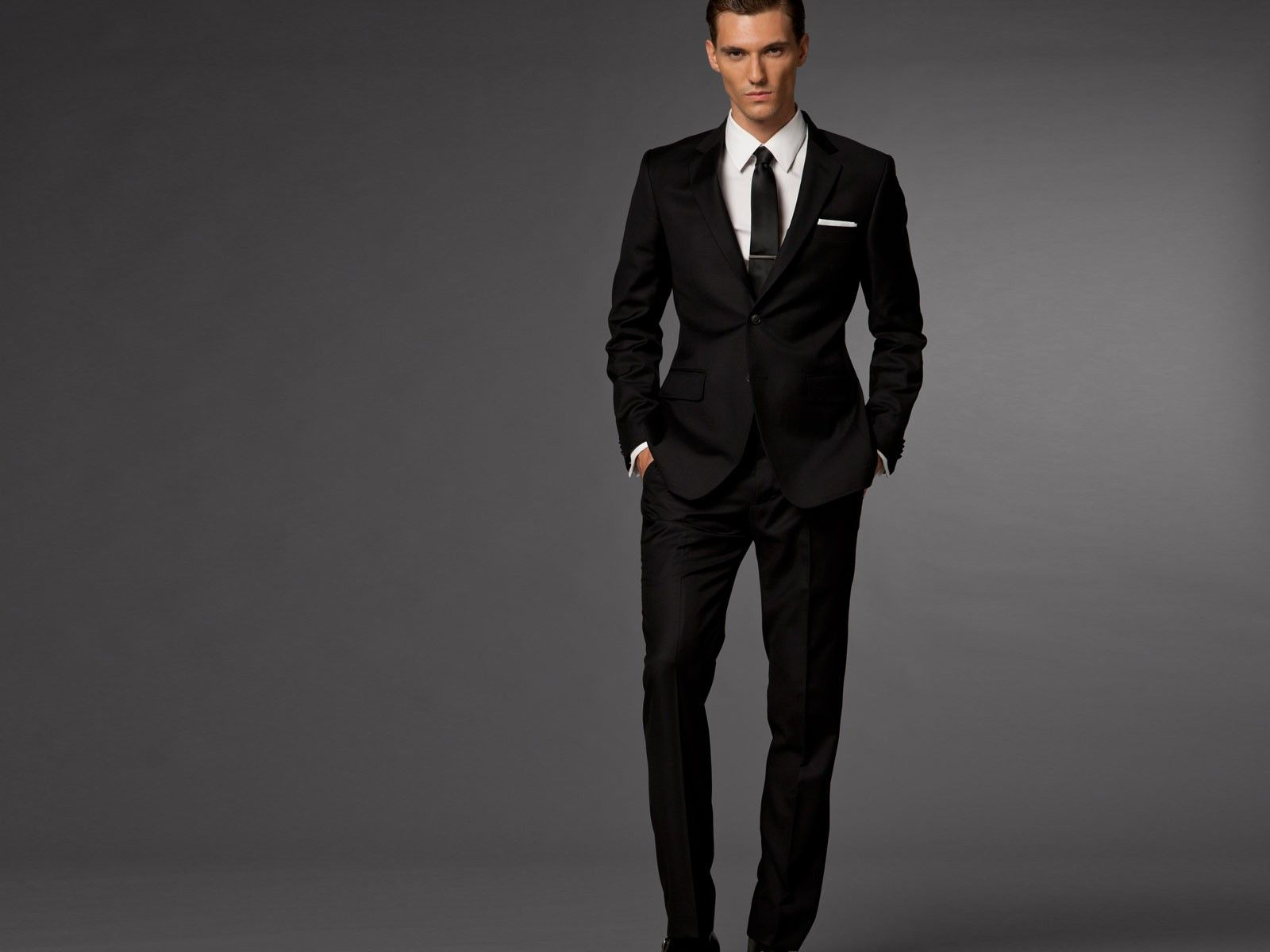 Essential Black Suit | Black suits