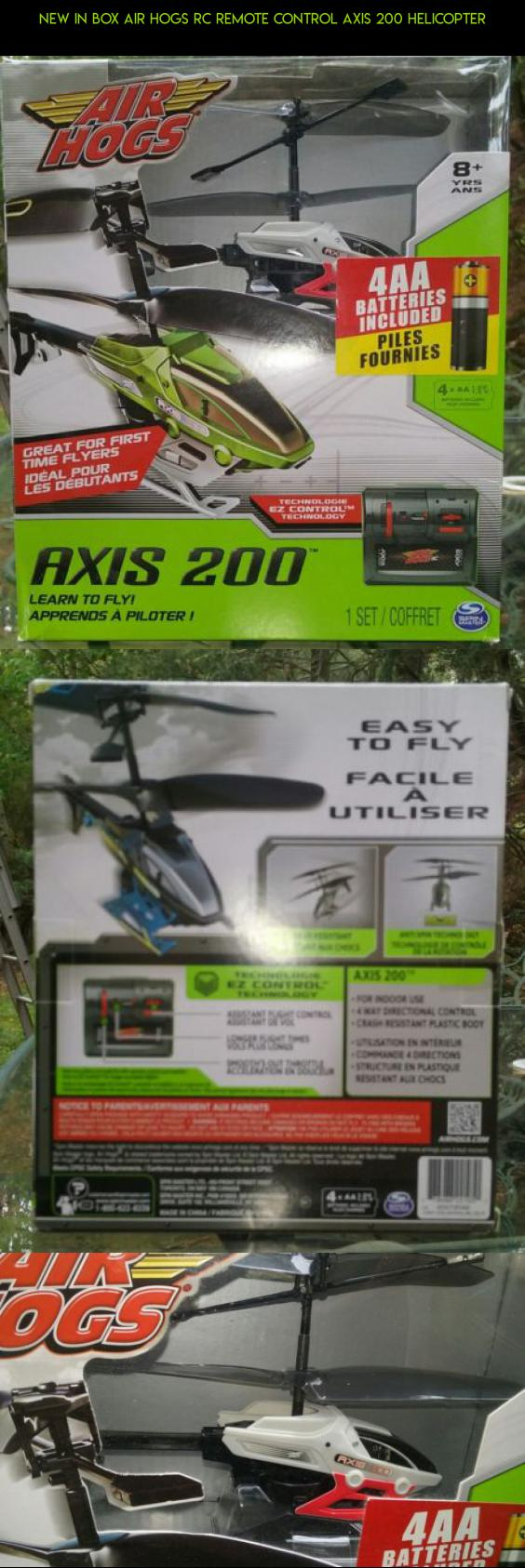 NEW IN BOX AIR HOGS RC REMOTE CONTROL AXIS 200 HELICOPTER #technology #fpv #plans #kit #gadgets #shopping #products #parts #air #drone #tech #hogs #200 #camera #racing