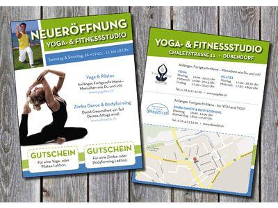 Flyer Garantiert Flyer für Eröffnung von Yoga \ Fitness Studio - studio brochure