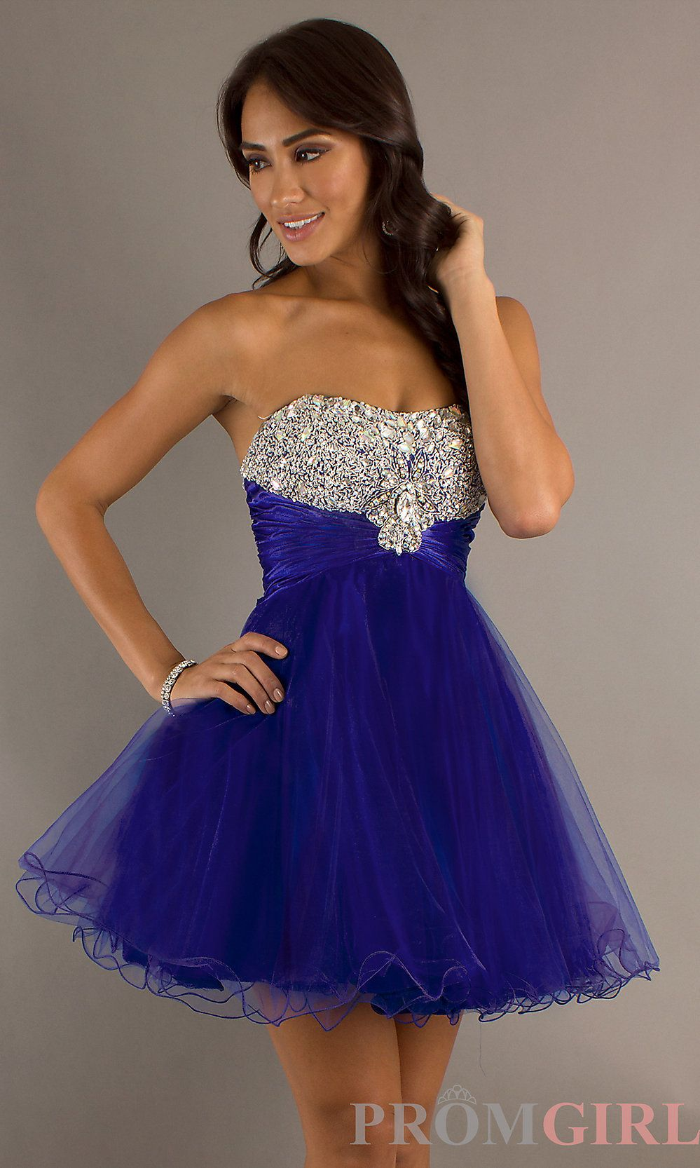 Juniors Short Party Dresses | Strapless Party Dress, Junior Short ...