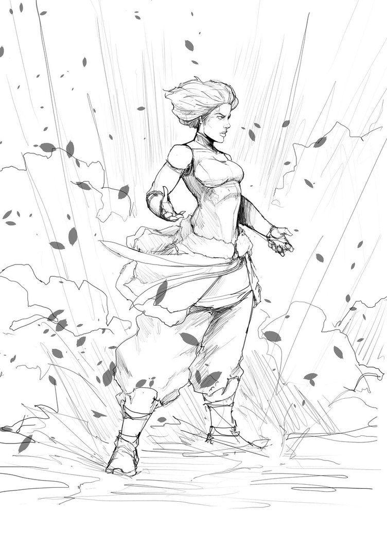 Korra Power2 By Sketchydeez On Deviantart Sketches Em 2019
