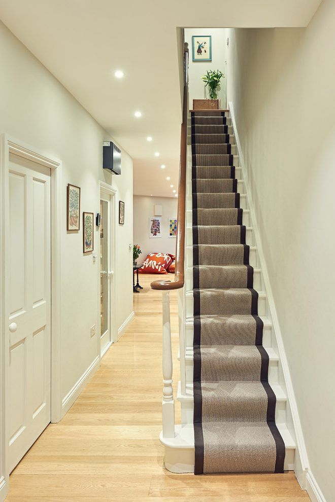 Hallway Carpet Staircase Traditional With Narrow Staircase Narrow Staircase  White Staircase