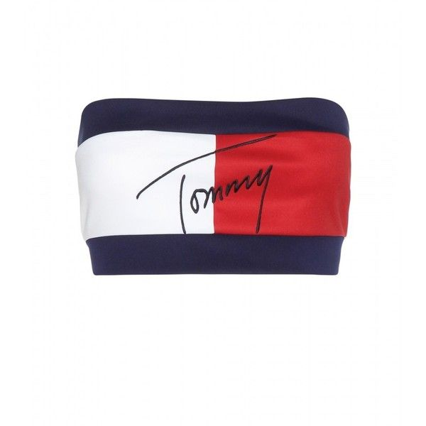 Tommy Hilfiger mytheresa.com Exclusive Flag Embroidered Bandeau Top ($140) ❤ liked on Polyvore featuring tops, crop tops, shirts, tommy hilfiger, multicoloured, bandeau bikini top, tommy hilfiger tops, crop top, tommy hilfiger shirts et crop shirts