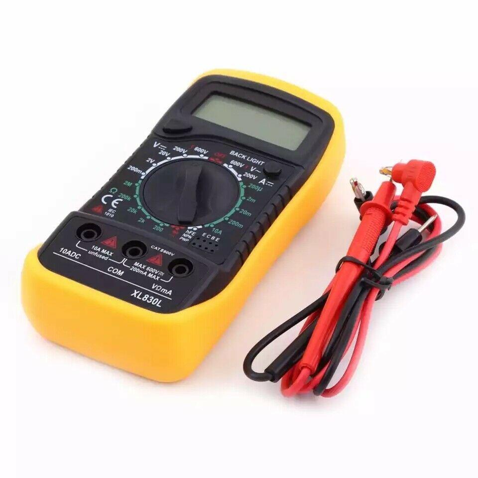 Lcd Digital Multimeter Voltmeter Ammeter Ac Dc Ohm Current Circuit Tester Buzzer Unbranded
