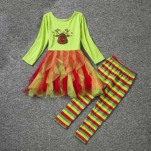 4506878b8bba baby girl clothes Christmas costume gifts girls clothing sets long sleeve tutu  dress +stripe legging