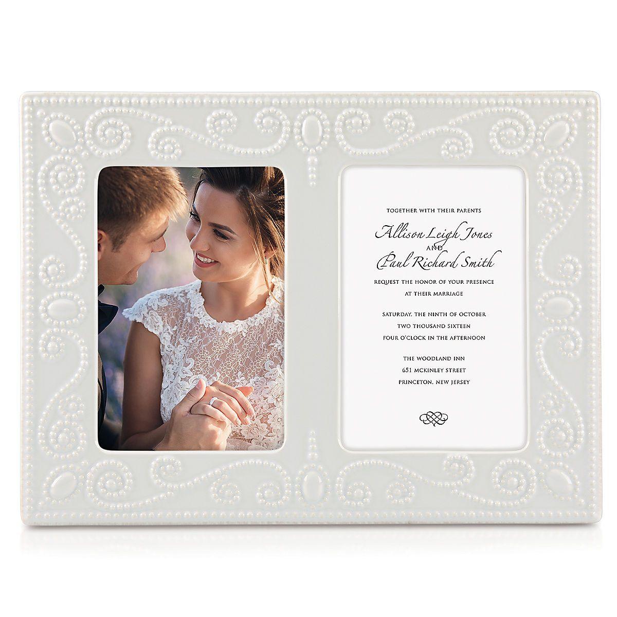 French Perle™ White Double Invitation Frame | Lenox | Kitchen ...