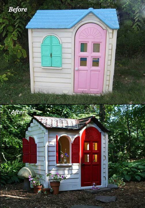 Before U0026 After: A Little Tikes House Gets A Paint Job
