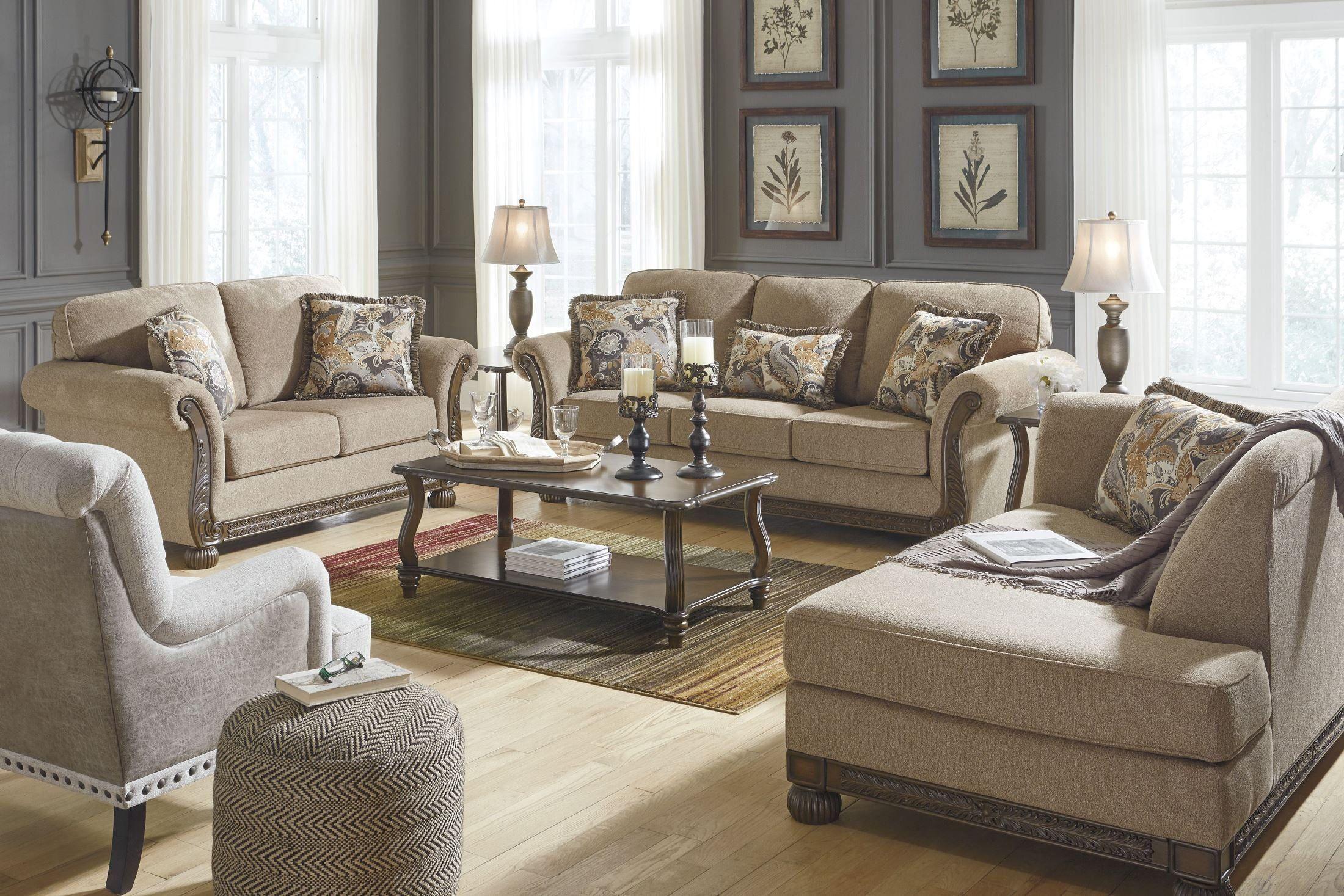 Harleson Wheat Living Room Set In 2020 Living Room Decor Neutral Living Room Sets Furniture