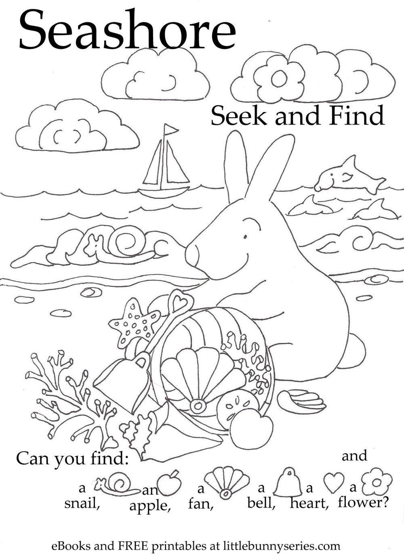 Seashore Seek and Find PDF | My Girlies! | Pinterest