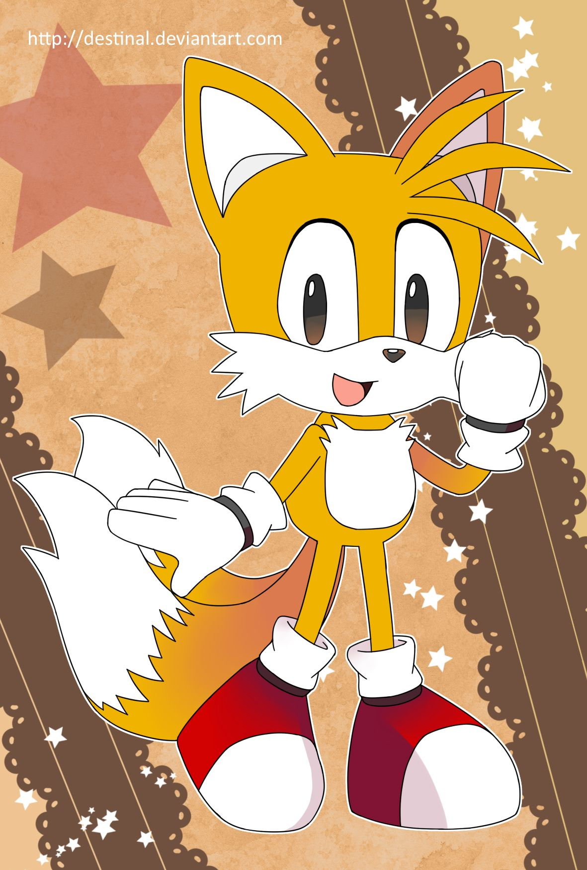 Sonic Postcard - Classic Tails by Crystal-Ribbon.deviantart.com on @DeviantArt