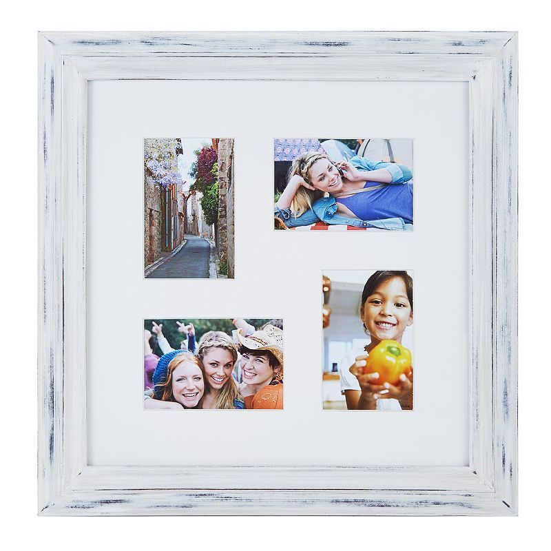 Melannco 4 Opening Distressed Collage Frame Collage Picture