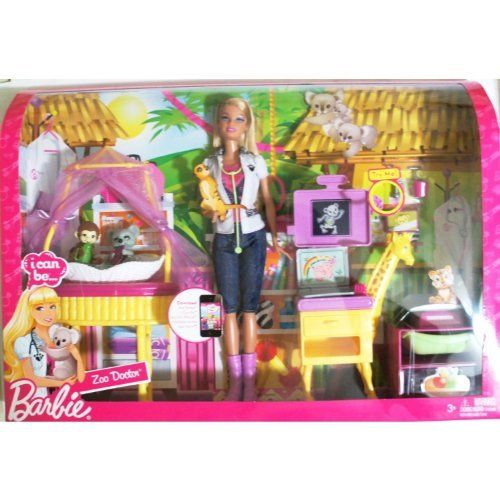 Barbie I Can Be Zoo Doctor Play Set By Mattel 59 95 Barbie I