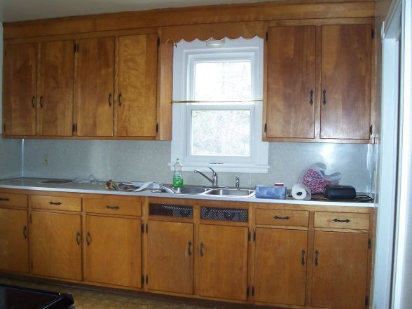 Updated 1950s kitchen this large galley 1950s pine for Updated galley kitchen photos