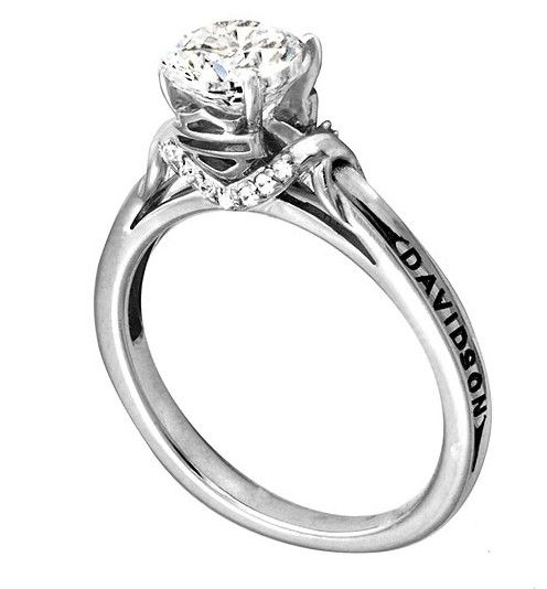 Harley Davidson Wedding Rings.Harley Davidson Engagement Ring Love It Even More Without The