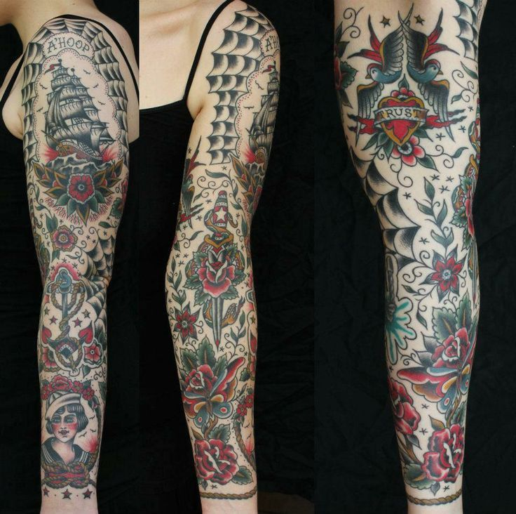 Image result for american traditional sleeve Traditional