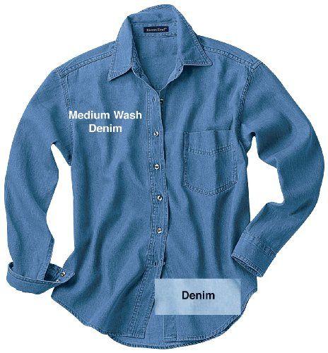Women's River's End Long - sleeve Denim Shirt, LIGHTWASH, SM Rivers' End,http://www.amazon.com/dp/B000ZN756Y/ref=cm_sw_r_pi_dp_1NoVsb145MA1TYM6