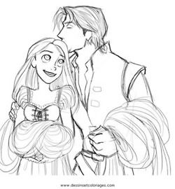 tangled disney Rapunzel concept art pascal Flynn maximus