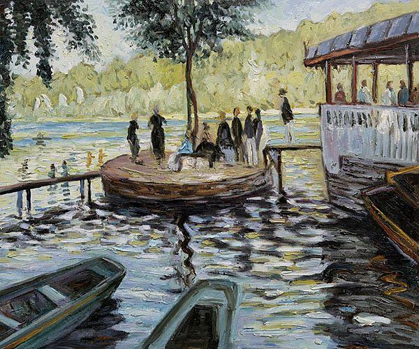 Name: Bain à la Grenouillère / Artist: Monet / Date: 1869 ...