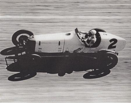 Frank Lockhart on the board track