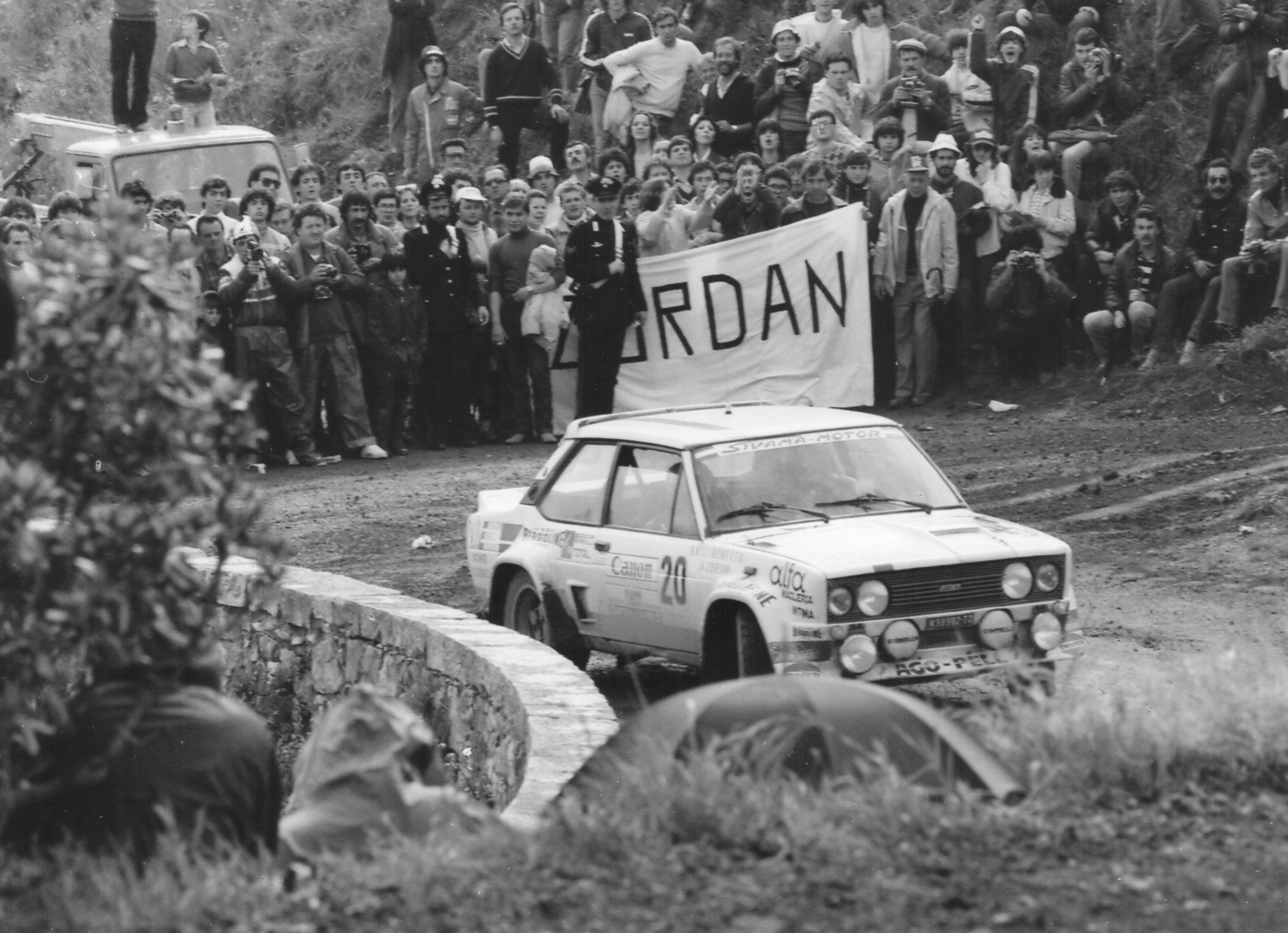Antonillo Zordan In A Fiat 131 Abarth During Rallye Dell Isola D