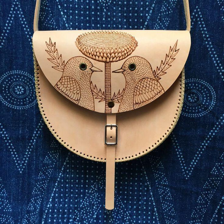 Santa Fe Satchel Hand stitched leather shoulder bag