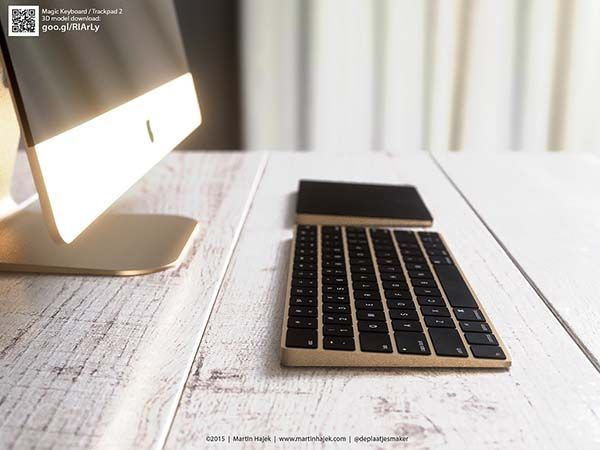 e95014d7e5f The Renderings Show off Gold iMac, Magic Keyboard and Magic Trackpad ...