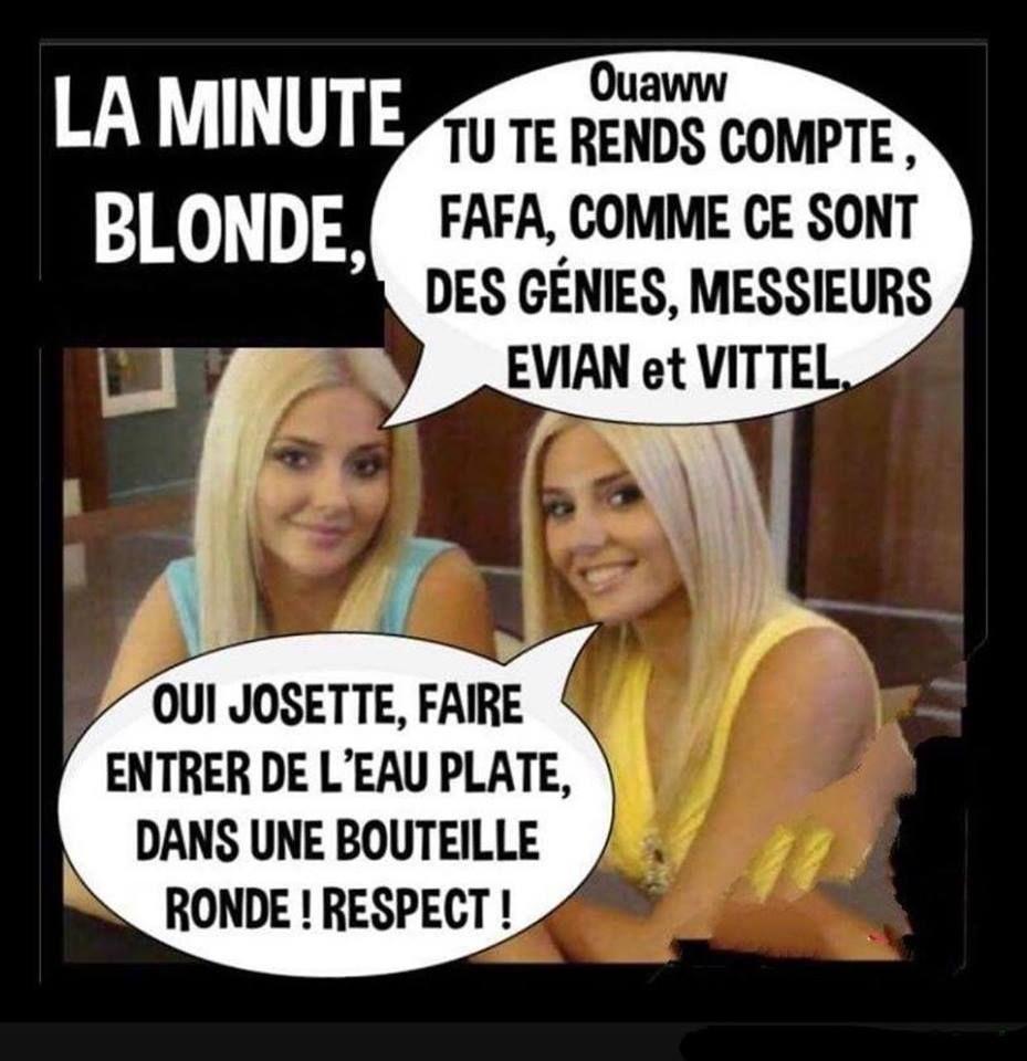 Elles Sont Fortes Nos Blondes Blague De Blonde Blague Pour Rire Blague