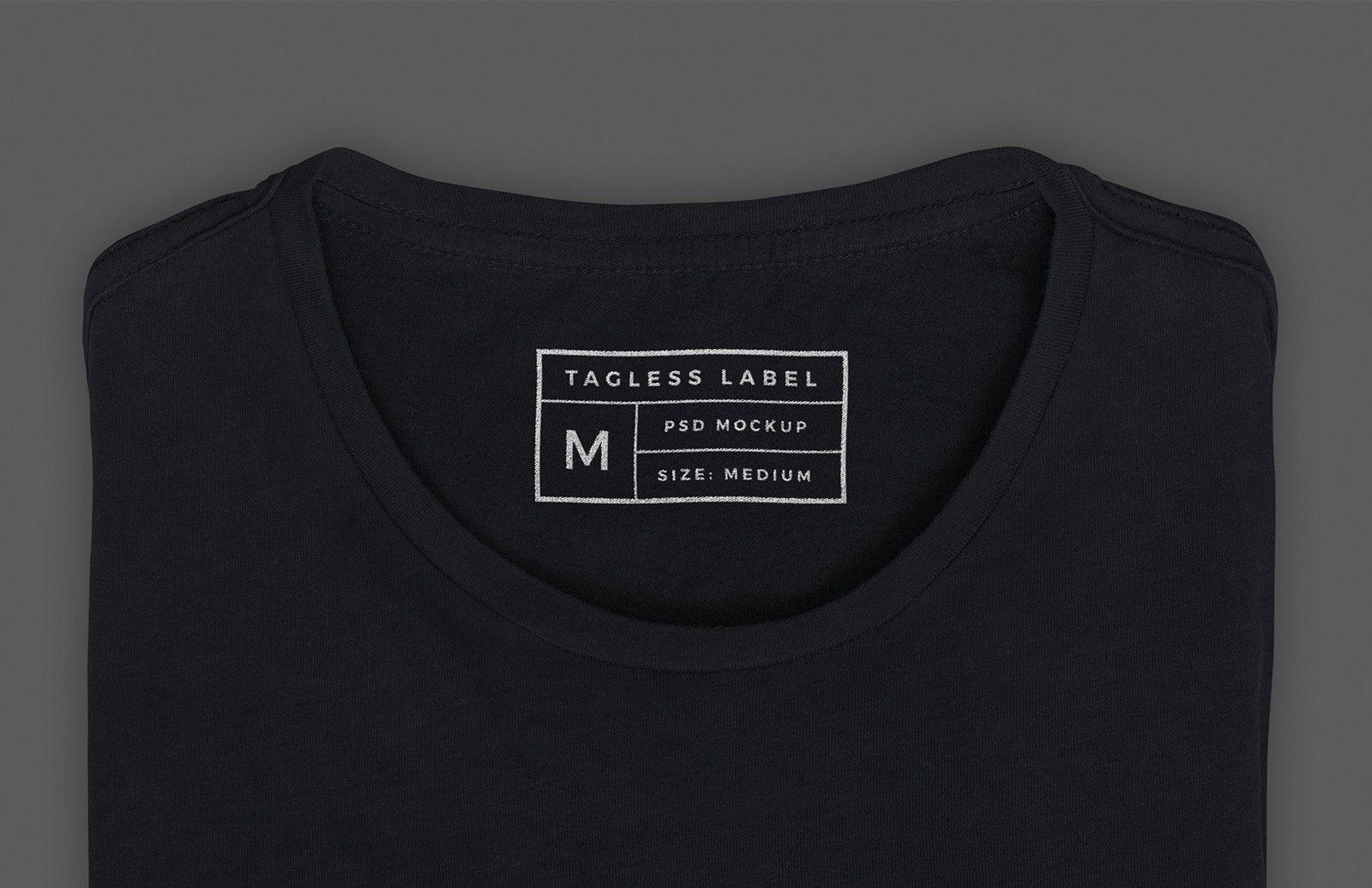 Download Apparel Tag Inside Label Mockup Shirt Label T Shirt Label Clothing Mockup
