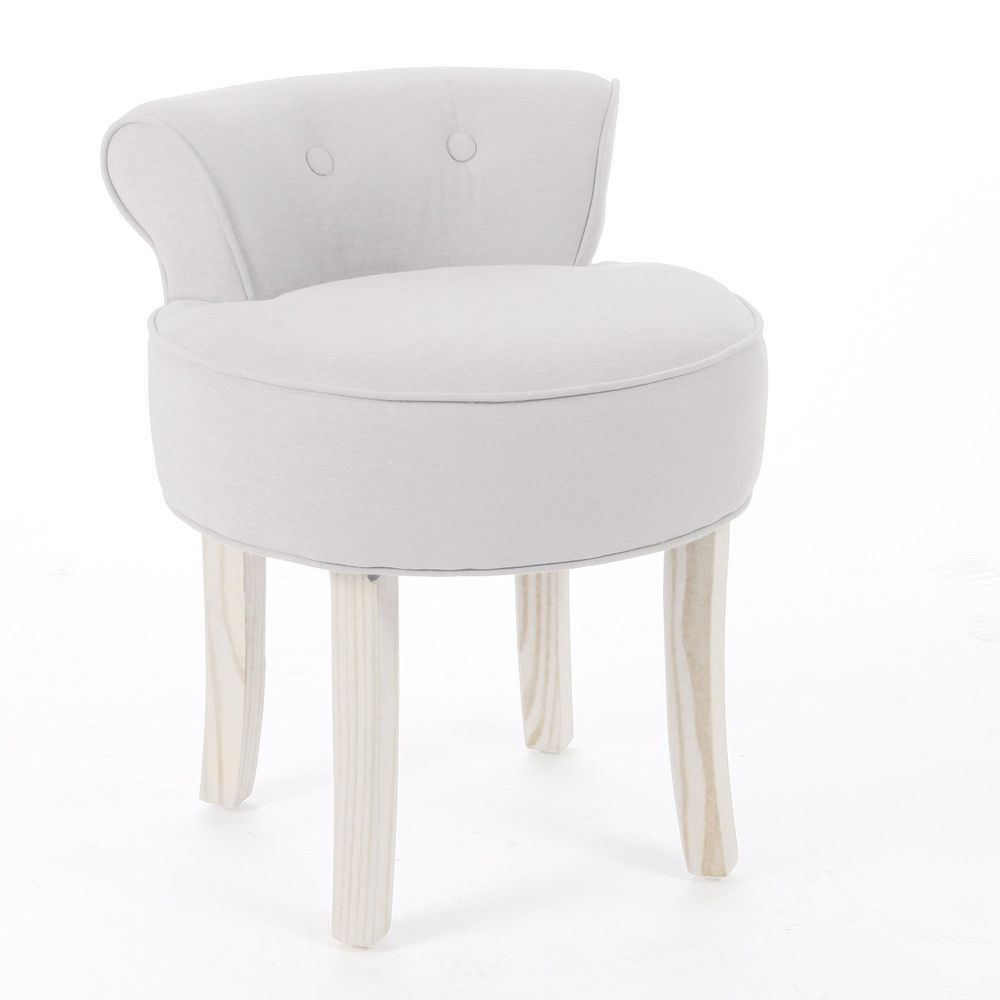 dressing table vanity stool padded seat chair modern bedroom cream  - dressing table vanity stool padded seat chair modern bedroom beige cottonlinen  ebay