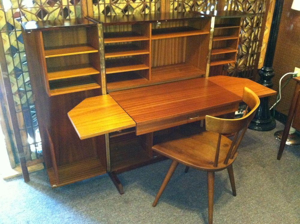 Vintage mid century danish modern huseby norway folding for Norwegian vintage office chair