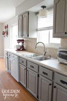 Annie Sloan Chalk Paint Kitchen Cabinets Country Grey Google - Refinishing kitchen cabinets grey