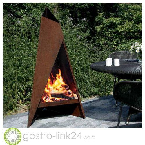 Design Feuerstelle für den Garten Gardening, Landscaping  Outdoor