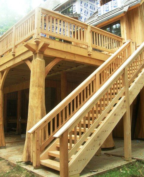 Timber stairs & handrails, interior and exterior custom built by ...