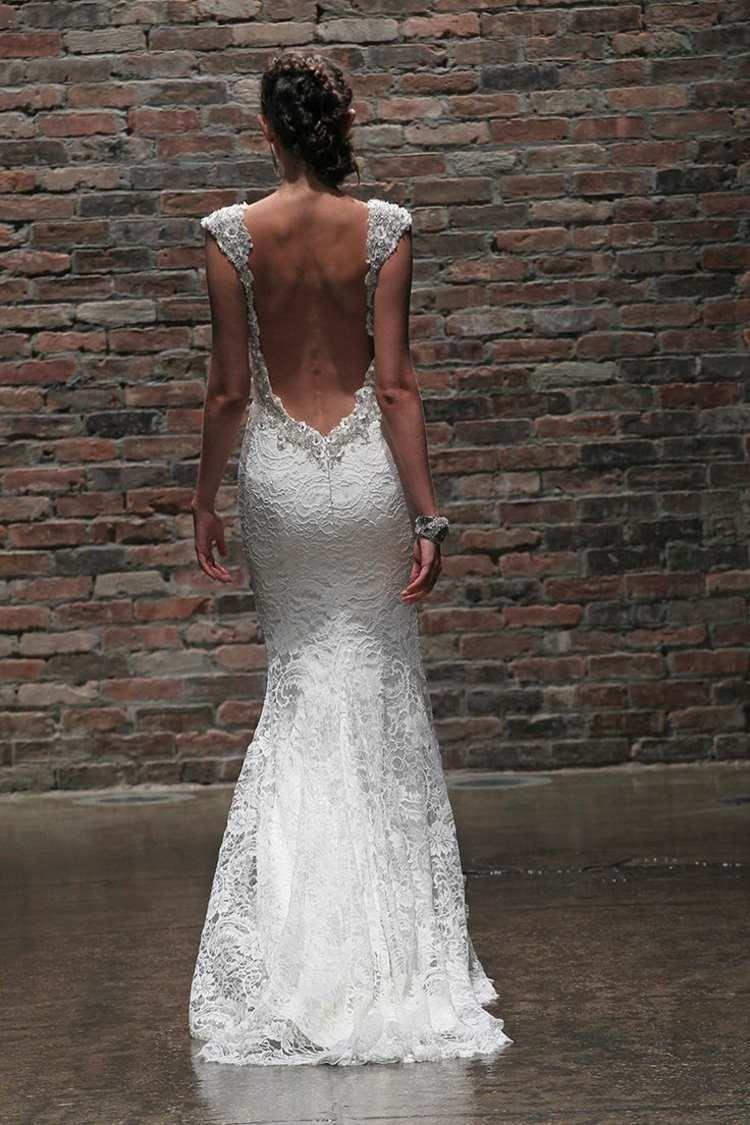 Robe de mariée dos nu, seminu et en dentelle 70 designs