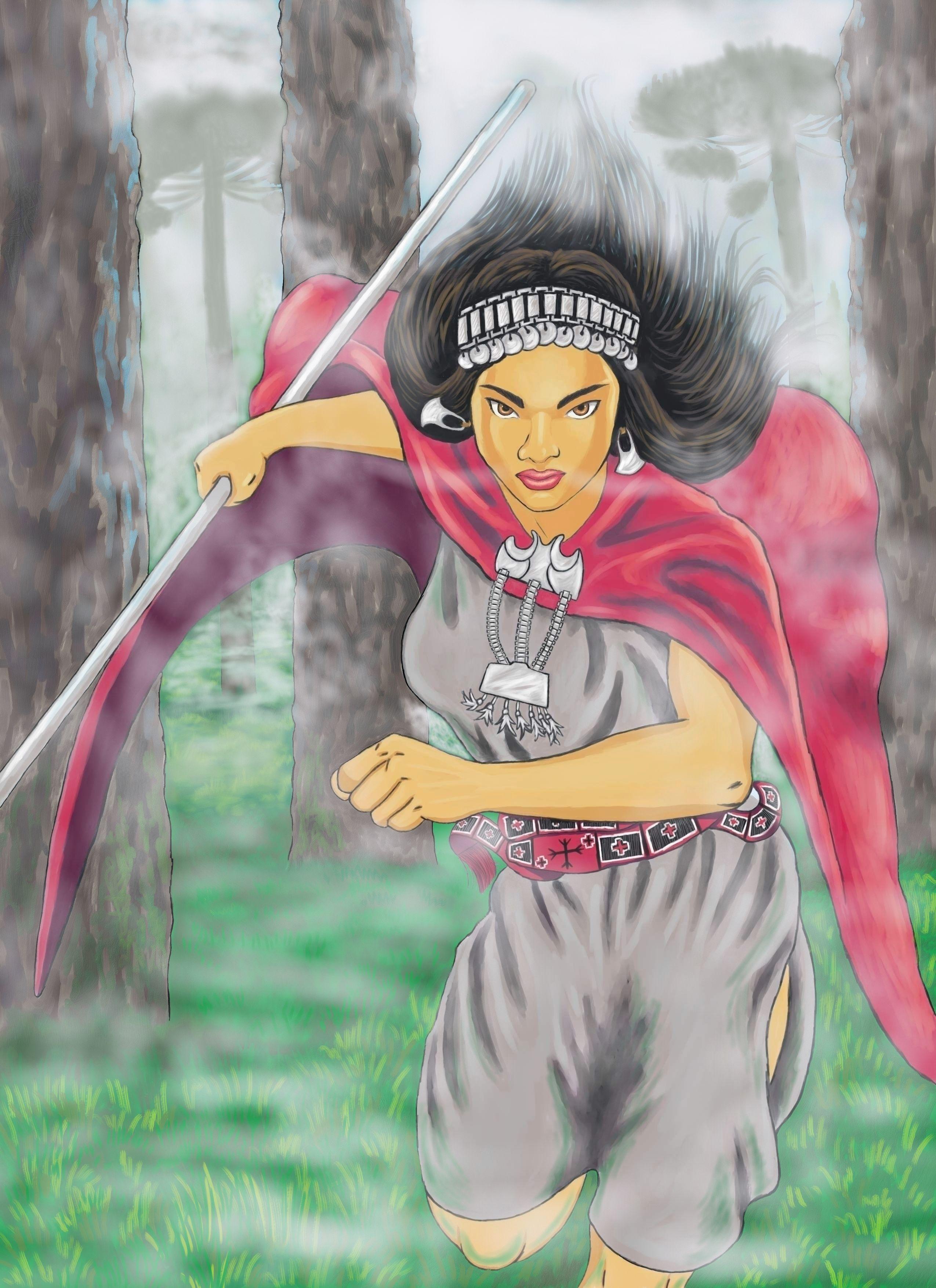 Machi Religiosa Medica Y Protectora Del Pueblo Mapuche Arte Mapuche Mujer Mapuche Dibujos De La Pachamama