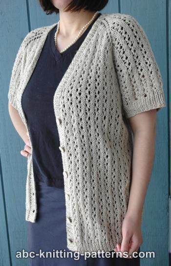 31fe10f2fa29 Top-down Raglan Sleeve cardigan. Free from ABC Knitting